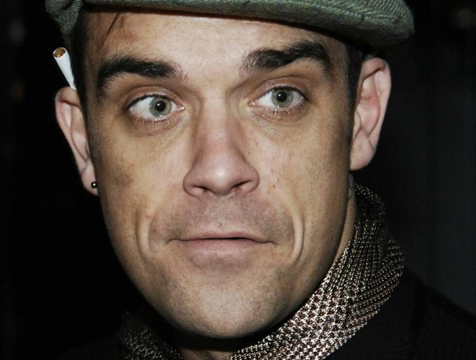 REN: Robbie Williams har slitt med avhengighetsproblemer i en årrekke. Har den tøffe behandlingen endelig gjort ham frisk? Foto: All Over Press