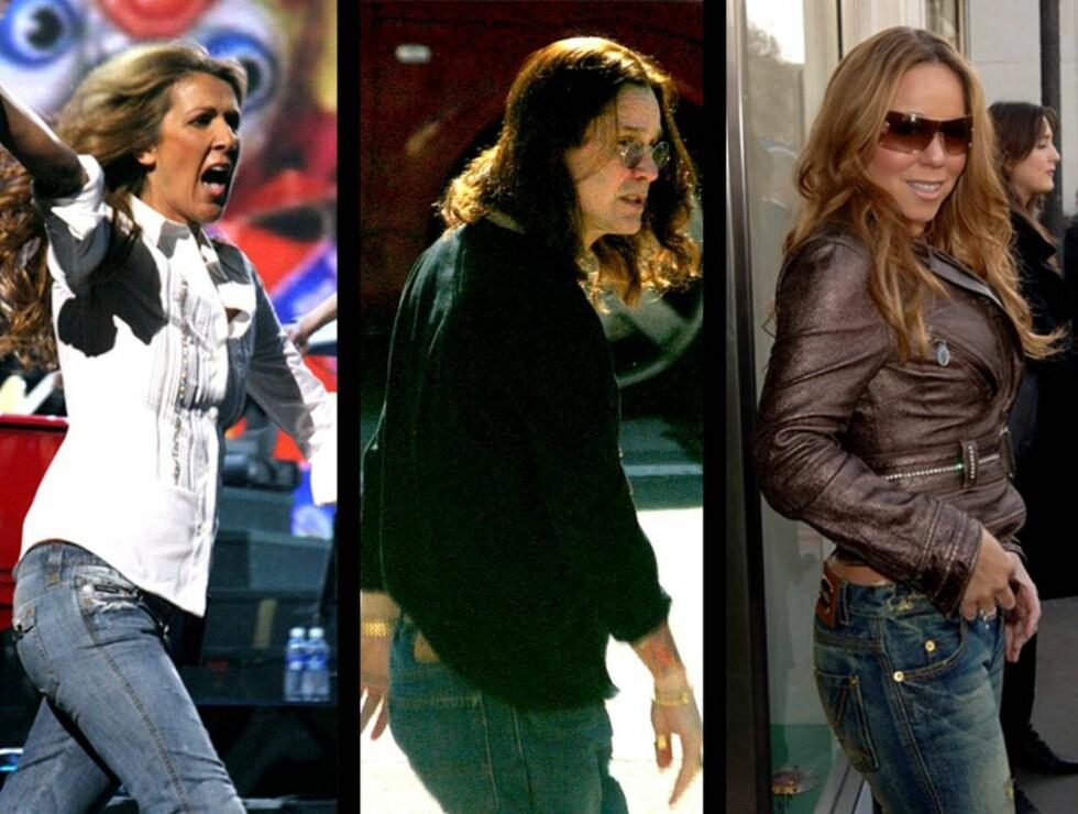HJELP: Disse tre sangerne, Celine Dion, Ozzy Osbourne og Mariah Carey har ifølge Q de verste sangstemmene i historien. Hva syns du? Foto: Stella Pictures