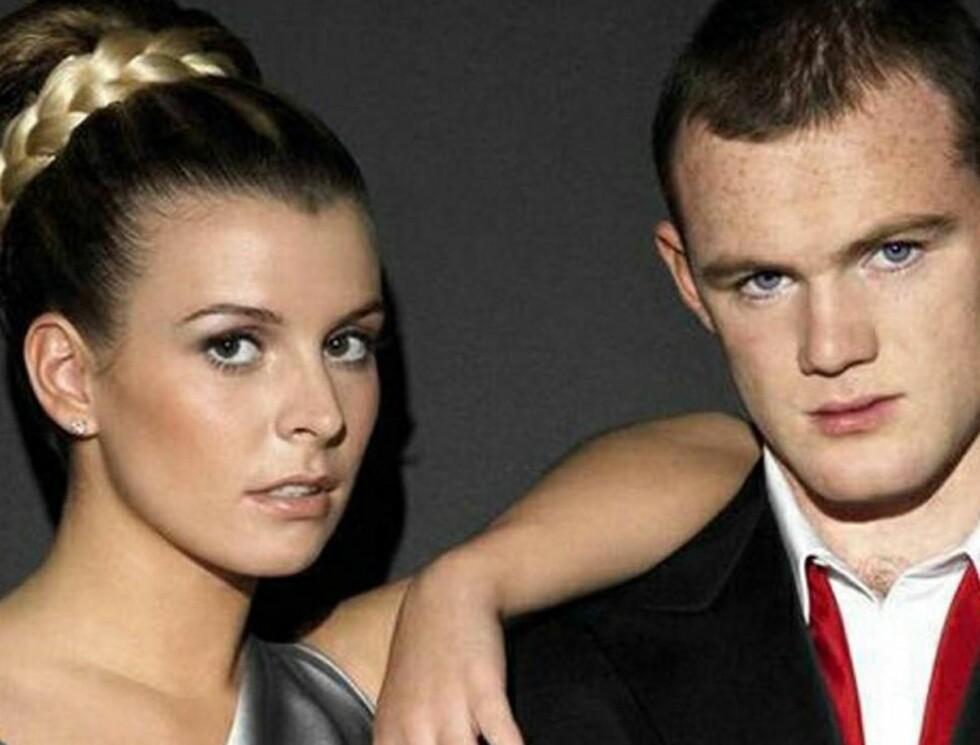 GIFTEKLARE: Coleen McLoughlin og Wayne Rooney blir mann og kone neste år... Foto: All Over Press