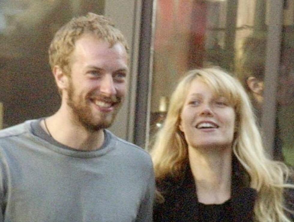 GRINEBITER: Chris og Gwyneth ser tilsynelatende ut som et forelsket ektepar. Kan Chris sjalusi slå sprekker i idyllen? Foto: All Over Press