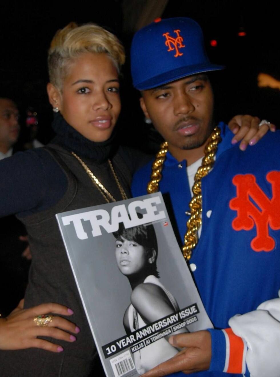 MANN OG KONE: I januar 2005 giftet Kelis seg med rapperen Nas. Var det han som betalte for kausjonen? Foto: All Over Press