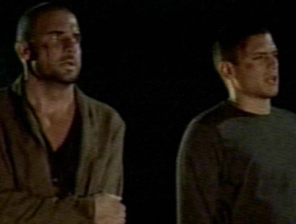 """FENGSELSFUGLER: Wentworth Miller og Dominic Purcells i """"Prison Break"""". Foto: All Over Press"""