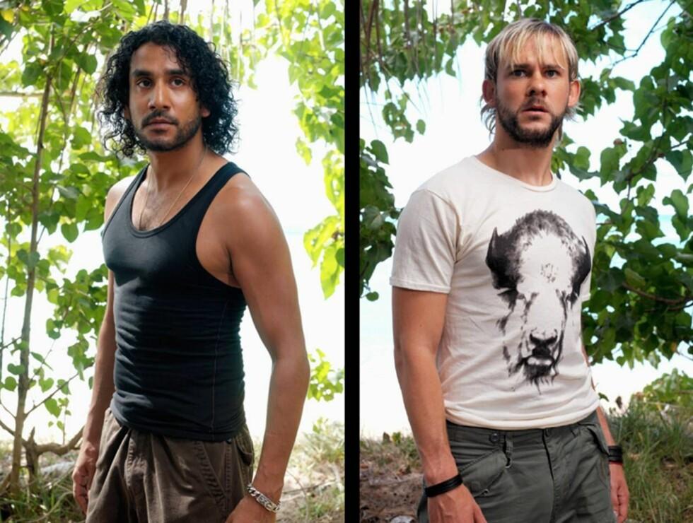 ARBEIDSLEDIGE: Naveen Andrews og Dominic Monaghan vil ha mer å gjøre på skjermen. Foto: TVNorge