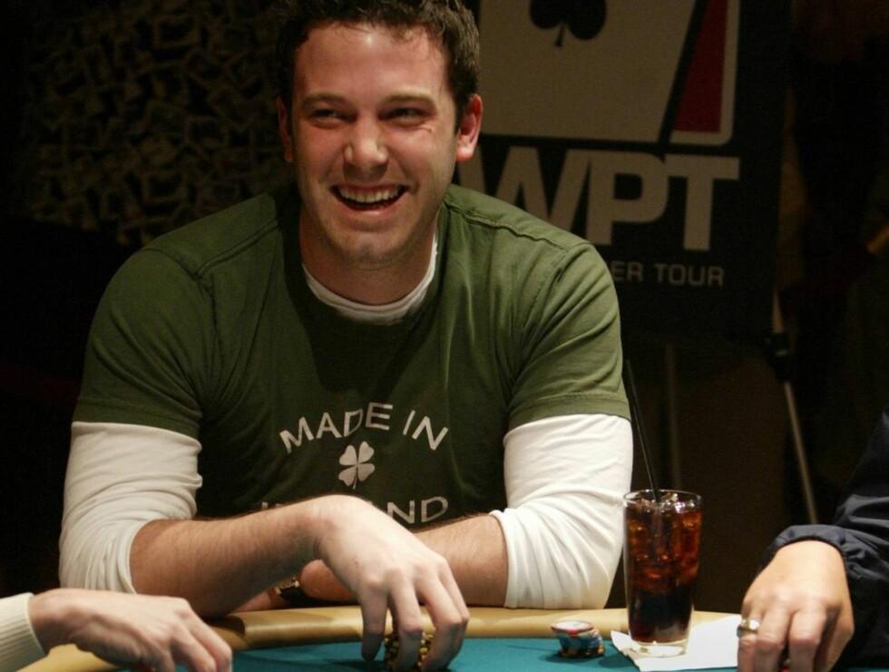 FLINK: Ben Affleck har all grunn til å spille. Han blir nemlig ansett som en av Hollywoods beste pokerspillere. Foto: AP/Scanpix