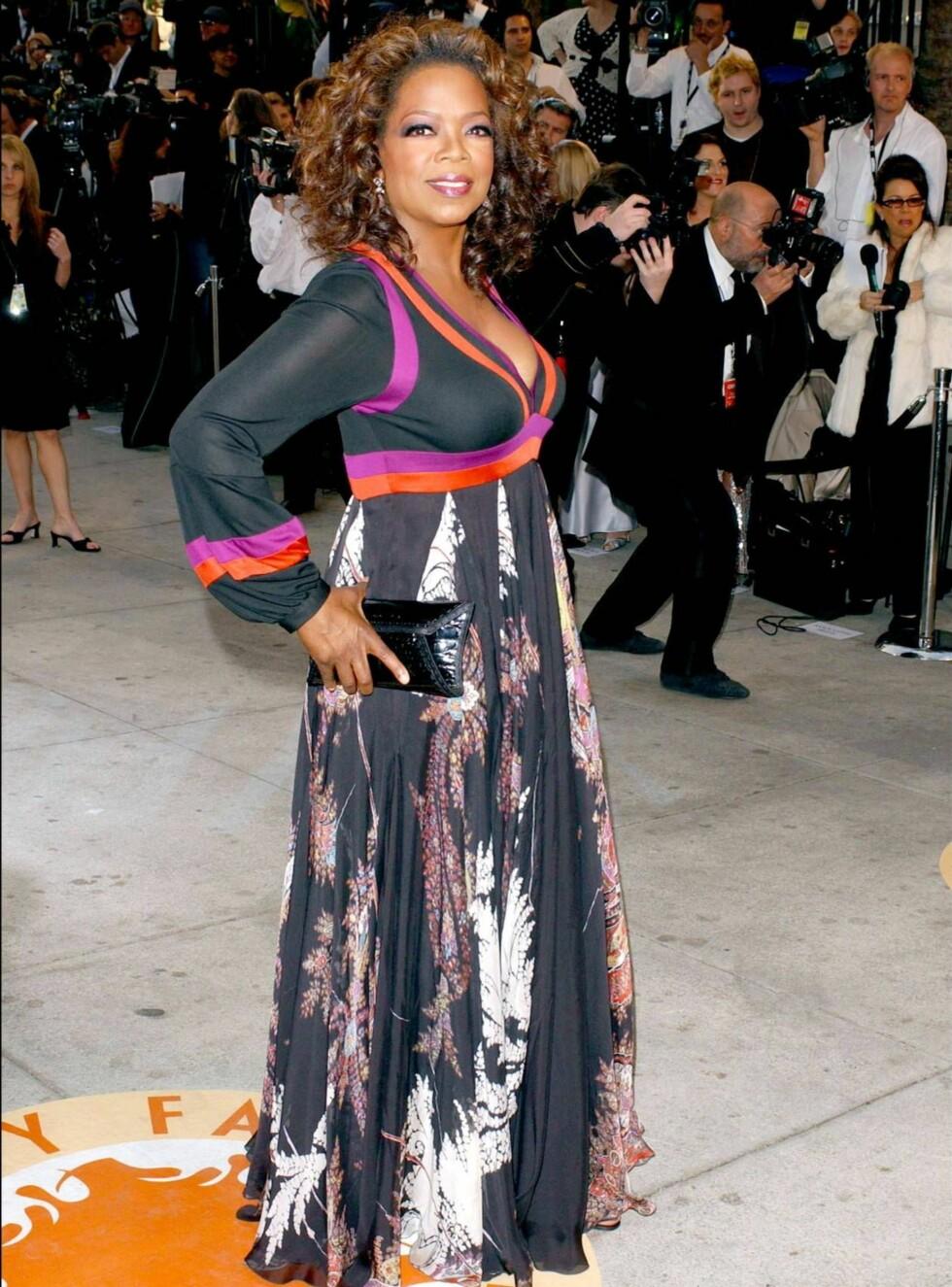 FLOTT: Oprah har gått opp og ned i vekt de siste årene, men nå ser det ut som om hun har fått seg kroppen hun ønsket seg. Mer selvtillitt enn Winfreys kan man se langt etter! Foto: Stella Pictures