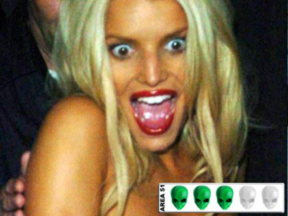 ROMVESEN?: Bevare meg vel, Jessica Simpson kan skremme vannet ut av de fleste dødelige med dette uttrykket.