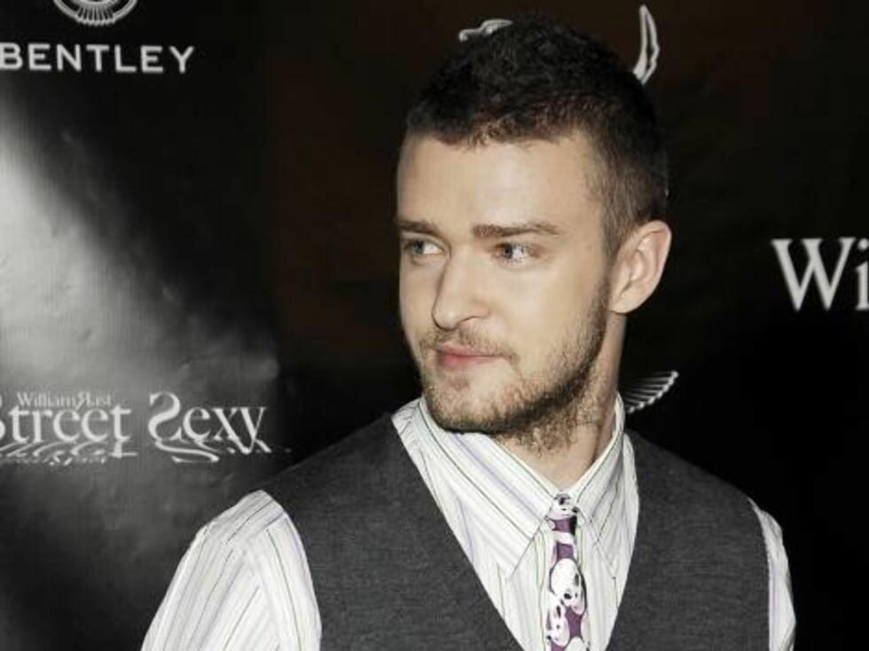... Og det var popstjernen Justin Timberlake også. Foto: AP/Scanpix