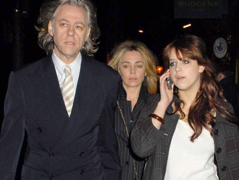 IKKE BLID: Pop-pappa Bob Geldof frykter Peaches (t.h) er på ville veier. Foto: WENN