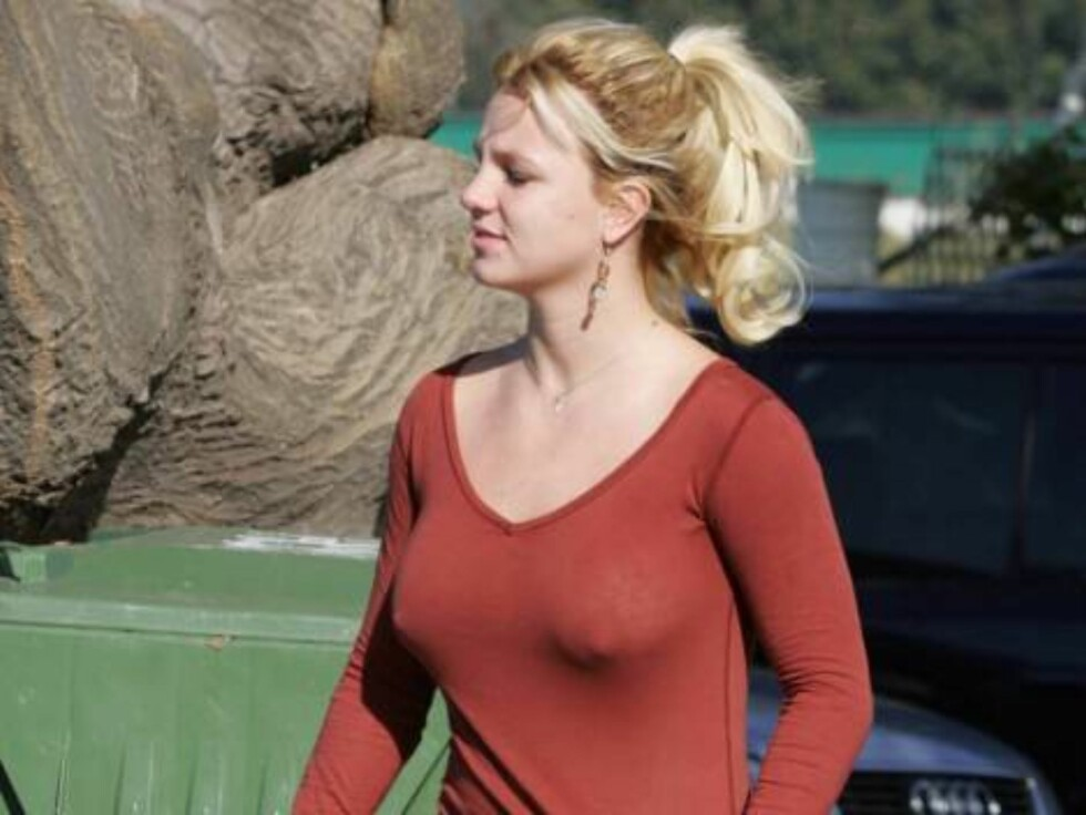 No bra smiling Britney Spears is losing her baby weight but still shows she just has baby Sean as she goes to a vet in Malibu. November 15, 2005 X17agency exclusive / ALL OVER PRESS Foto: All Over Press
