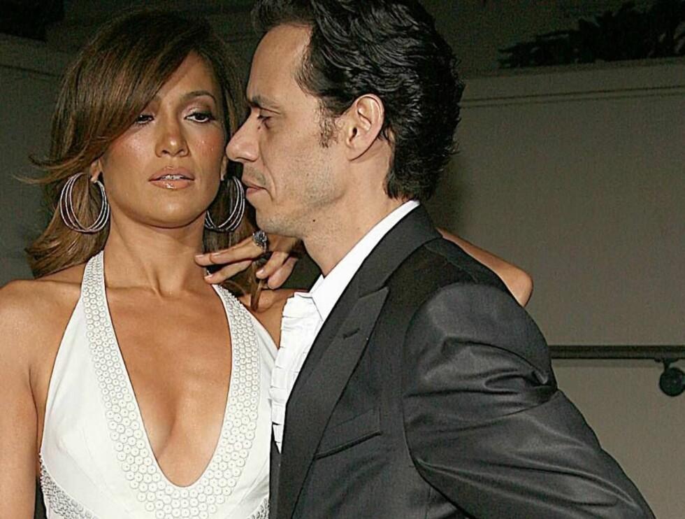 TRØBBEL?: J-Lo og ektemannen skal visstnok ha ktanglet høydlydt den siste tiden! Foto: All Over Press