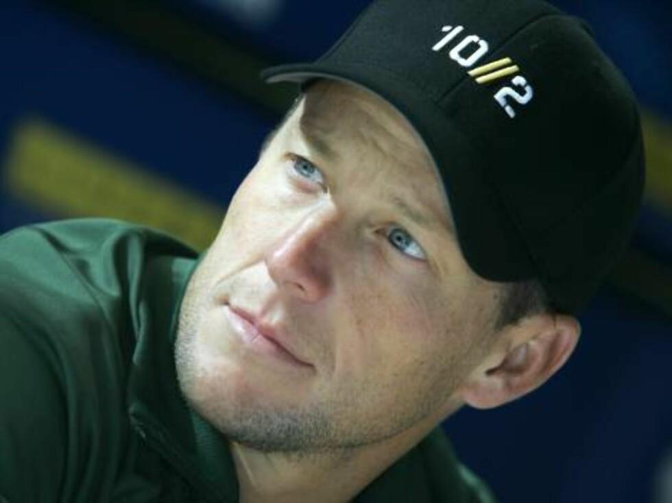 NUMMER FIRE: Sykkelhelten Lance Armstrong.