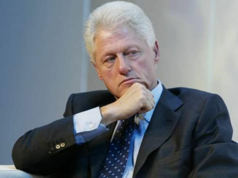 I TRØBBEL: Bill Clintons penis får ham fortsatt opp i trøbbel, åtte år etter at han gikk av som president. Foto: All Over Press