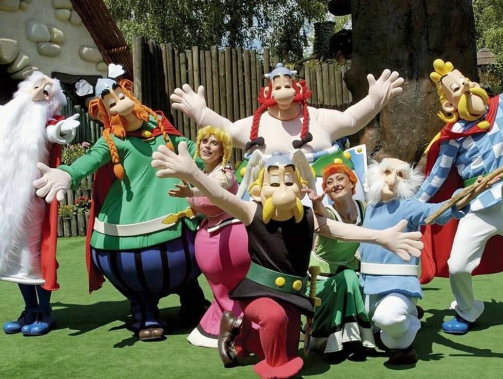 ASTERIX-PARKEN: I Asterix-parken kan du møte alle de tapre gallerne fra tegneserien. Foto: Se og Hør