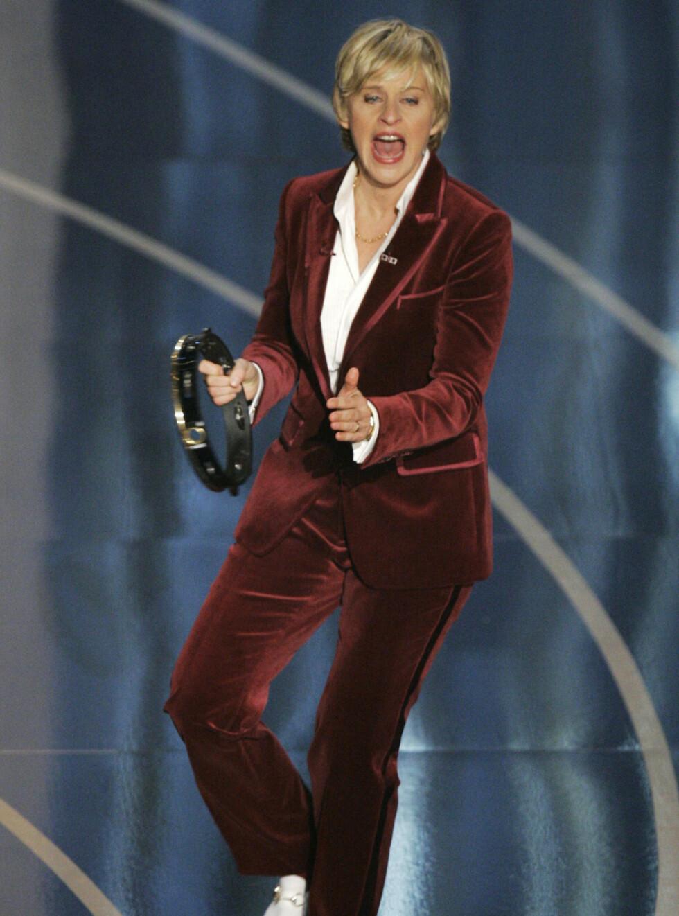 HUMRE: Ellen DeGeneres fikk mange til å trekke på smilebåndet med sine vittigheter. Foto: AP