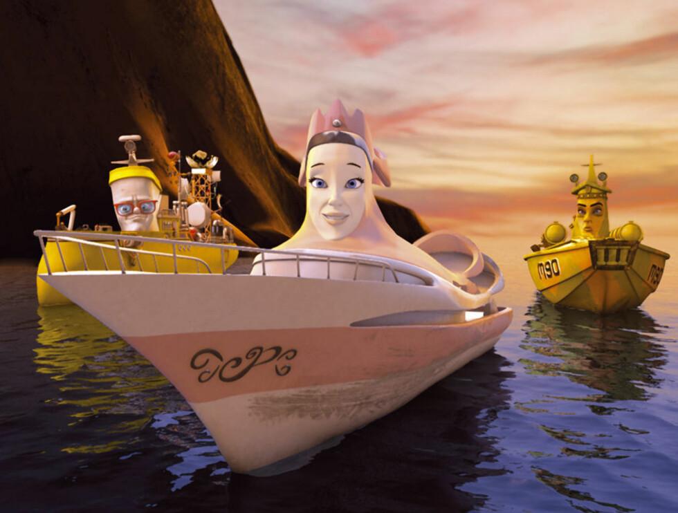 NYE KARAKTERER: #201dElias og kongeskipet#201d introduserer en rekke nye personer, her ser du Prinsessebåten.  Foto: Filmkameratene