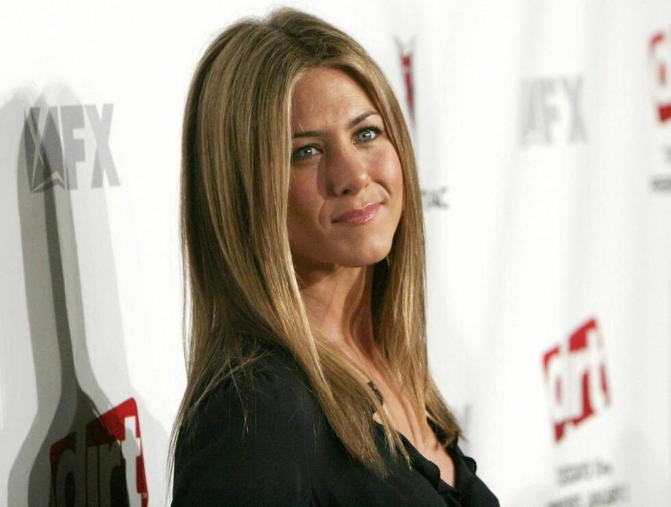 BLOTTET PÅ NETT: Et filmselskapet saksøker nå kjendisnettstedet Perez Hilton for å ha publisert et stjålet puppebilde av Jennifer Aniston. Foto: All Over Press