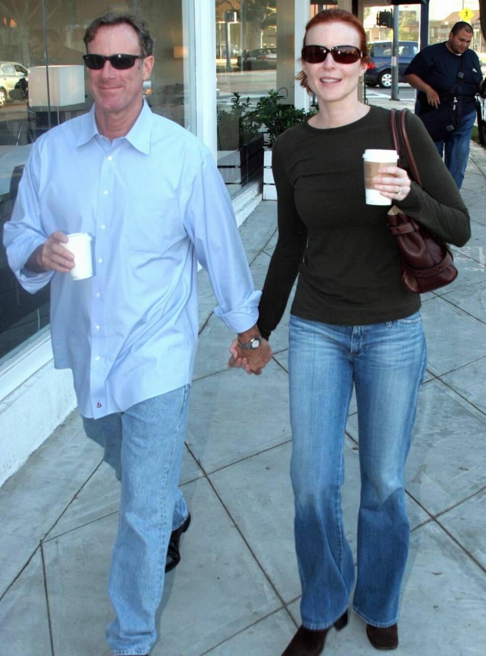 LYKKELIGE: Marcia og ektemannen Tom Mahoney har vært gift siden juni i fjor. Foto: All Over Press