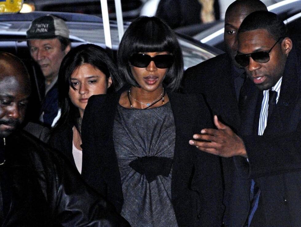 UTNYTTET: Naomi Campbell har selv vært i klammeri med lovens lange arm, men denne gangen er det en kopi som har pådratt seg politiets oppmerksomhet. Foto: AP