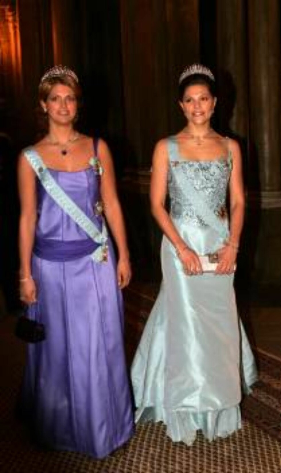 STOCKHOLM 2006-12-11.  The Nobel Prize 2006. King Carl XVI Gustaf and Queen Silvia of Sweden today hosted the traditional gala dinner in honour of the Nobel laureates at the Royal Palace, Stockholm.  Picture shows:  Princess Madeleine and Crown princess V Foto: Stella Pictures