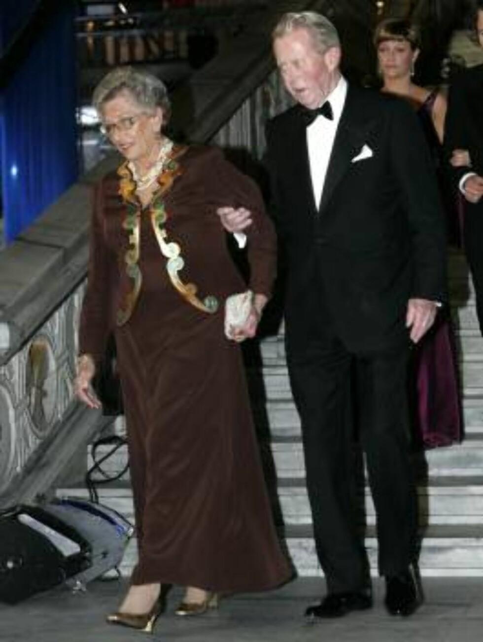 OSLO 20070223: Prinsesse Astrid og Johan Martin Ferner ankommer festforestillingen i Oslo rådhus fredag kveld. Foto: Bjørn Sigurdsøn / SCANPIX / POOL        Foto: SCANPIX