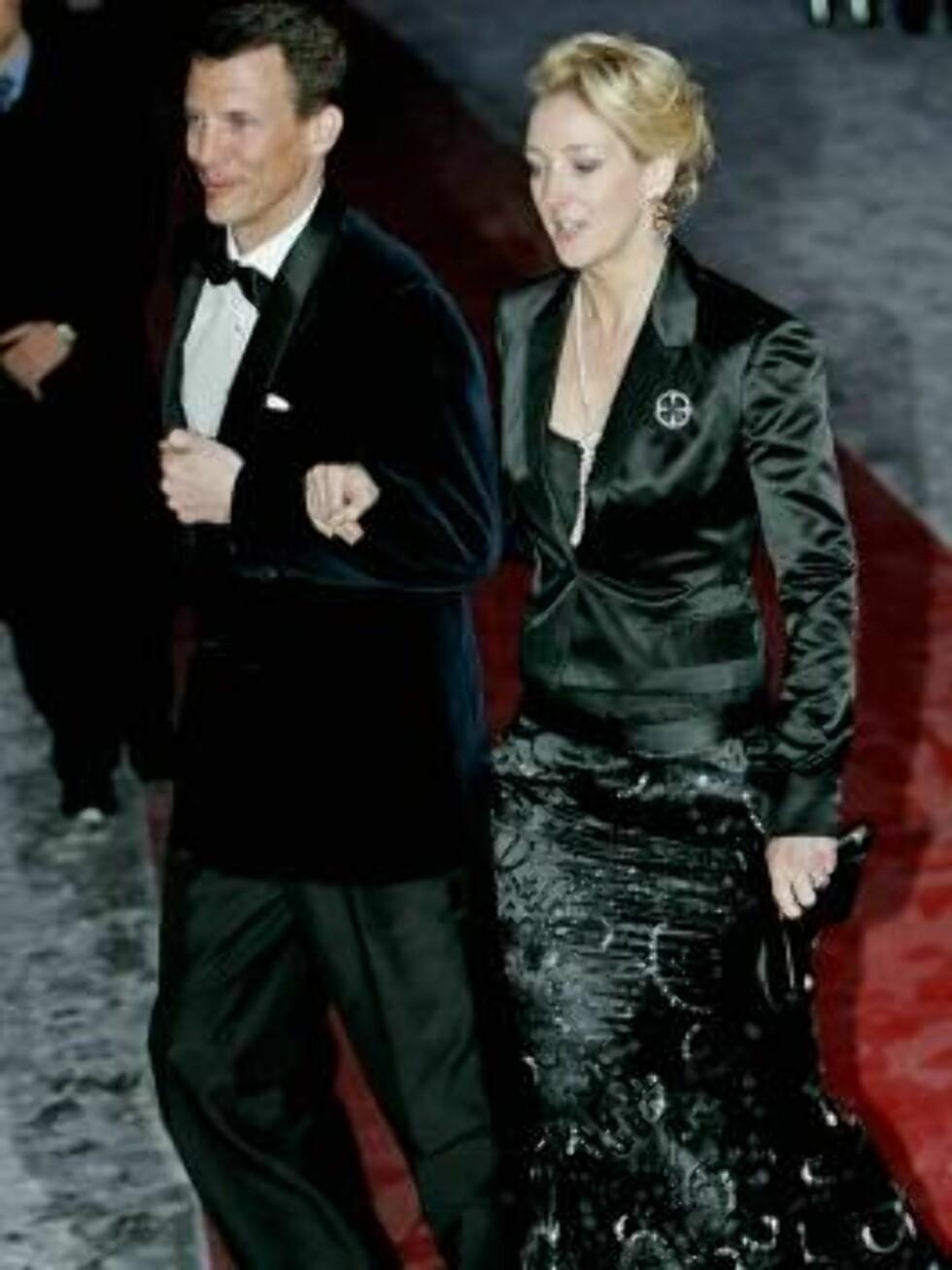 OSLO 20070223: Danmarks prins Joachim og prinsesse Alexandra av Sayn-Wittgestein-Berleburg ankommer festforestillingen i Oslo rådhus fredag kveld. Foto: Stian Lysberg Solum / SCANPIX    Foto: SCANPIX