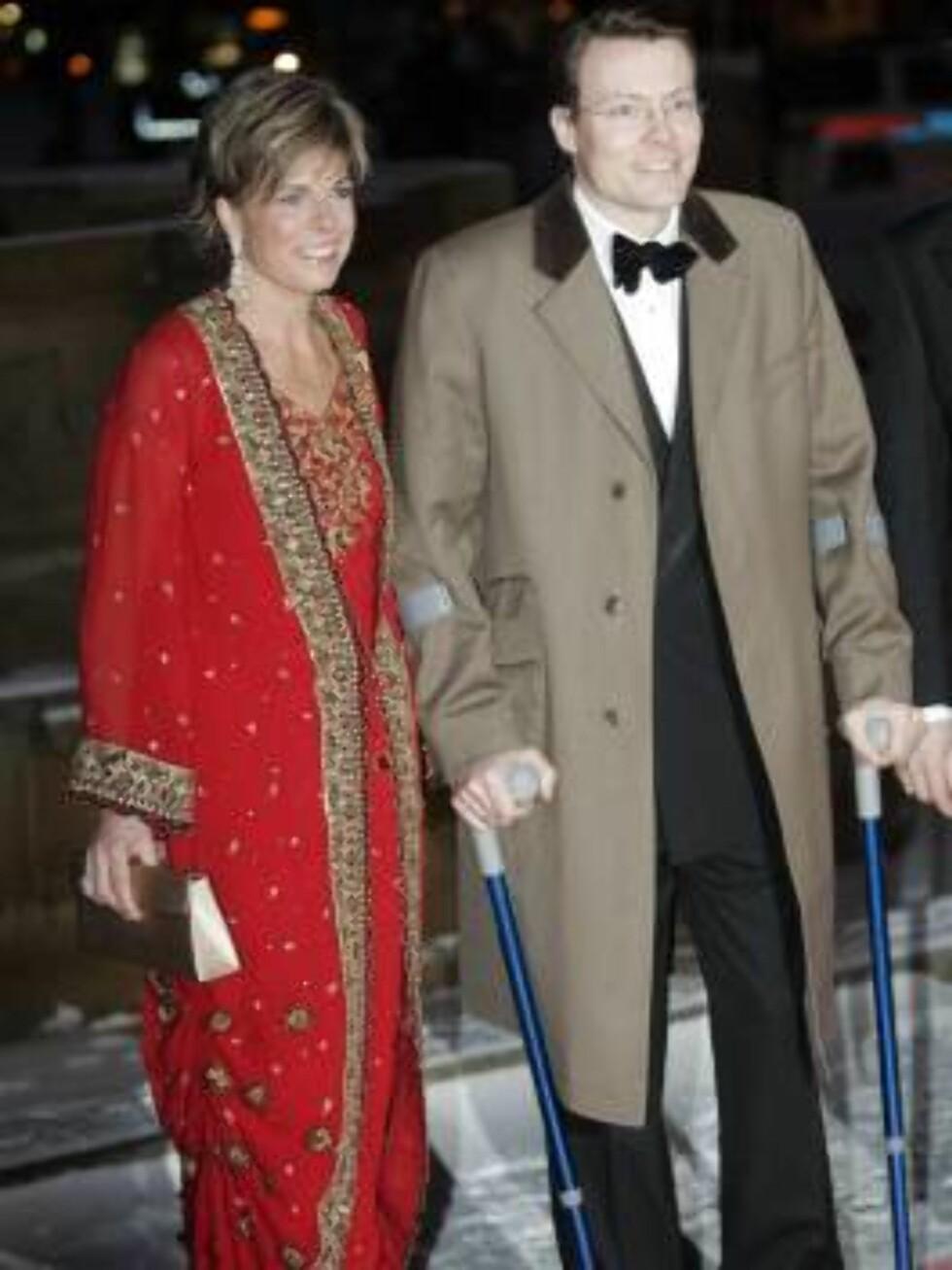 OSLO 20070223: Prins Constantijn og prinsesse Laurentien ankommer festforestillingen i Oslo rådhus fredag kveld.  Foto: Lise Åserud / SCANPIX       Foto: SCANPIX
