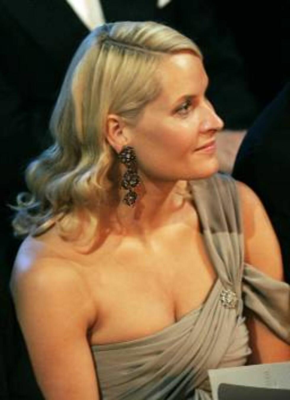 OSLO 20070223: Kronprinsesse Mette-Marit  før festforestillingen i Oslo rådhus fredag kveld.  Foto: Lise Åserud / SCANPIX / POOL      Foto: SCANPIX