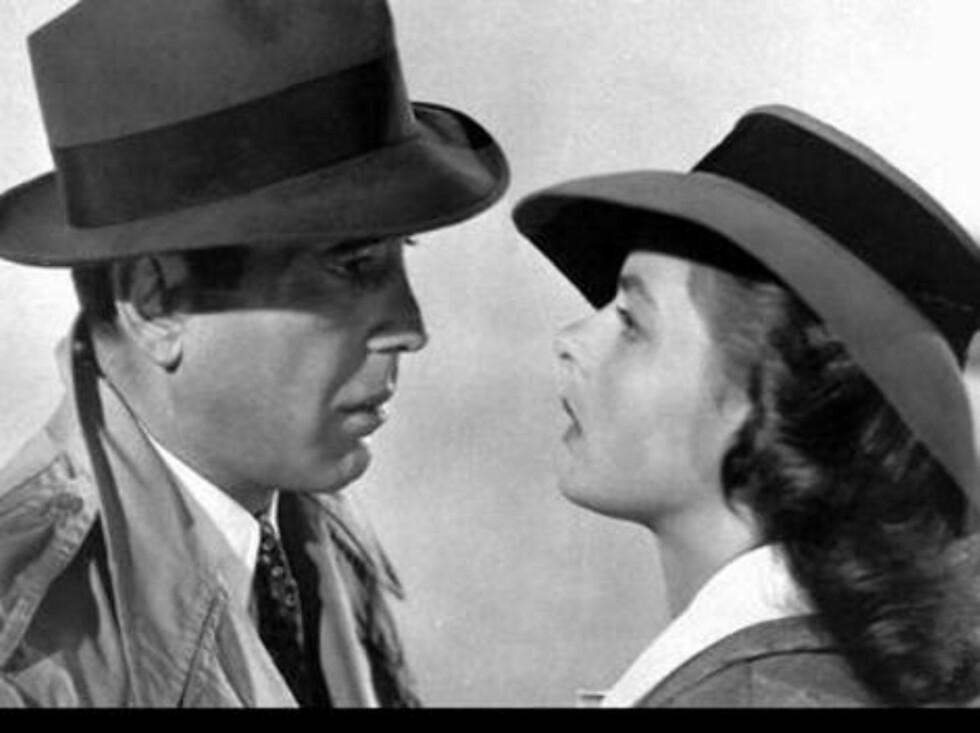 "Humphrey Bogart og Ingrid Bergman i ""Casablanca"". Foto: Filmweb"