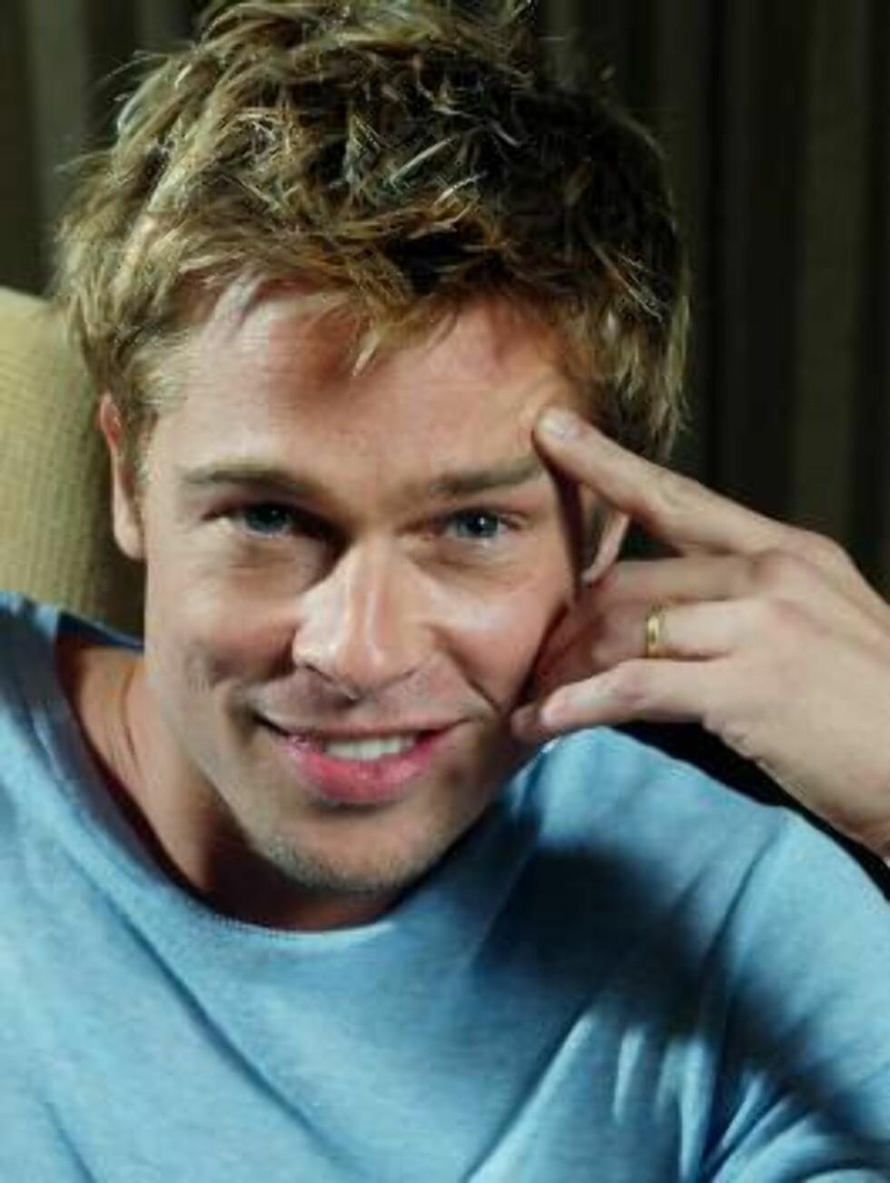 NUMMER FEM: Brad Pitt Foto: SCANPIX