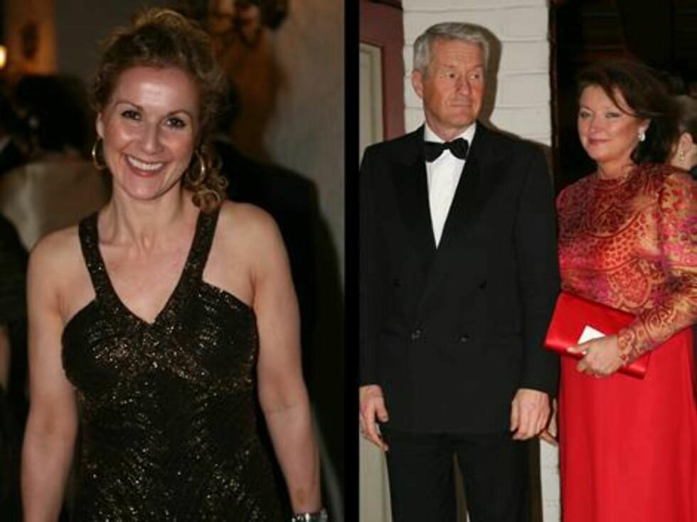 PRESIDENT: Thorbjørn Jagland kom med fru Hanne Grotjord. Barne- og likesstillingsminister Karita Bekkemellem kom i en kjole som glitret i gull. Foto: Se og Hør