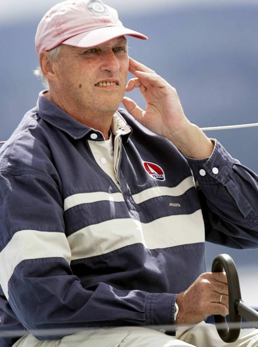 JUBILANT: Kong Harald fyller 70 år onsdag, men synes det var morsommere å bli 10. Foto: SCANPIX