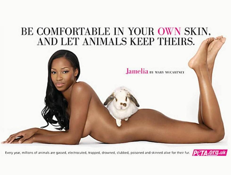PELSFRI: Jamelia foretrekker levende kaniner.