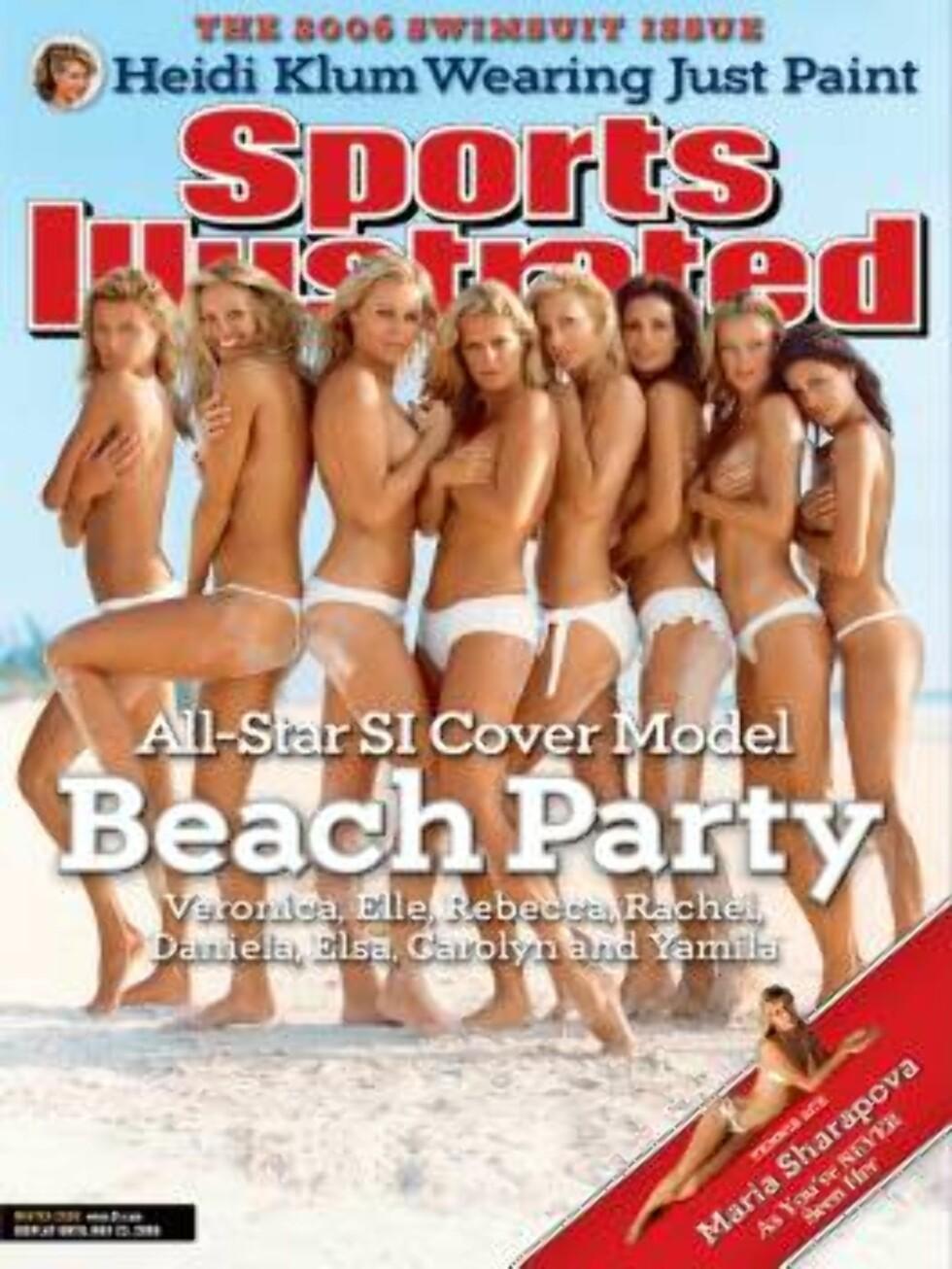 2006. For en gjeng!  Modeller: Tidligere modeller for Sports Illustrated, og Maria Sharapova. Foto: Sports Illustrated
