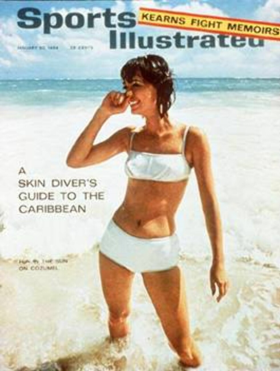 Women in the Surf at Cozumel-Sheared Leather Swimsuit January 20, 1964 X 9666 credit:  J. Frederick Smith - assign Foto: Sports Illustrated