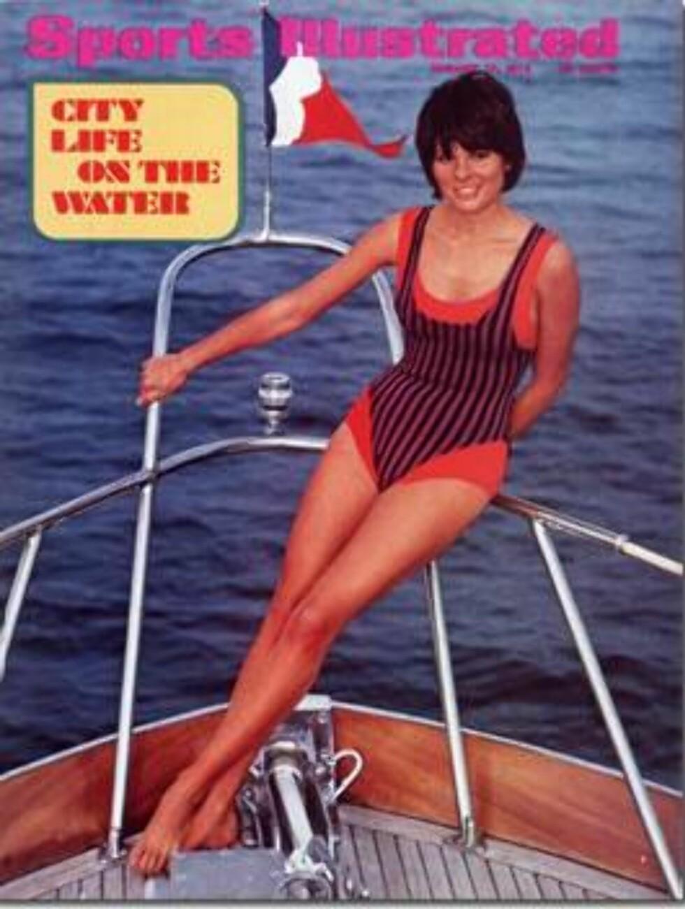 1972. En langbeint frøken i moteriktig badedrakt.  Modell: Sheila Roscoe. Foto: Sports Illustrated