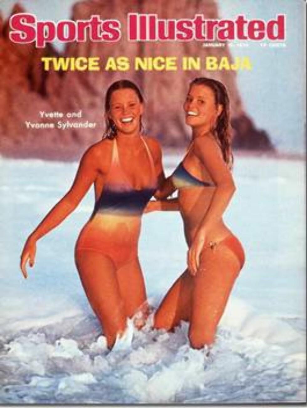 1976. Twice as nice! Det kan vi jo si oss enige i.  Modeller: Yvette og Yvonne Sylvander. Foto: Sports Illustrated