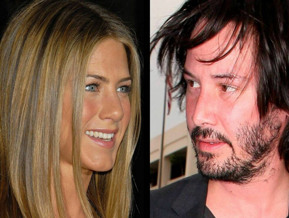 SAMMEN?: Det var Keanu Reeves agent som spleiset ham med vakre Jennifer Aniston. Blir de to Hollywoods nyeste superpar? Foto: All Over Press
