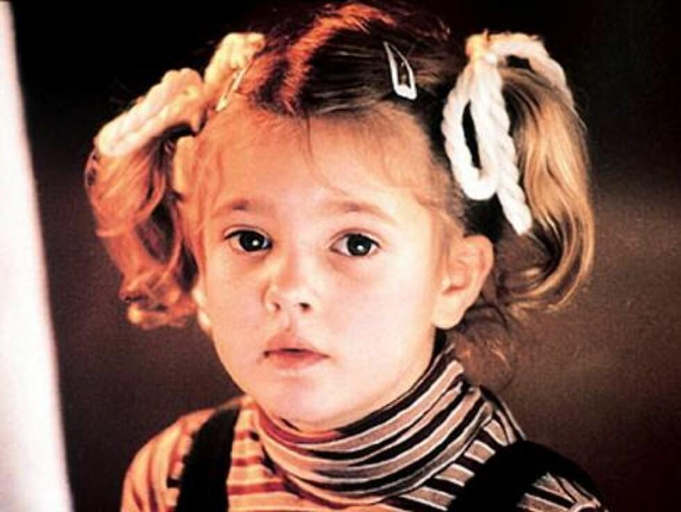 BARNESTJERNE: Drew Barrymore er oppvokst i rampelyset, etter at hun som liten jente slo igjennom i filmen «E.T.».