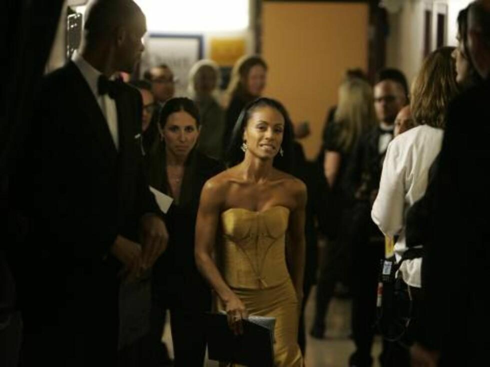 OSCAR 2007: Will Smiths kjære Jada Pinkett Smith bak scenen. Foto: AP/Scanpix