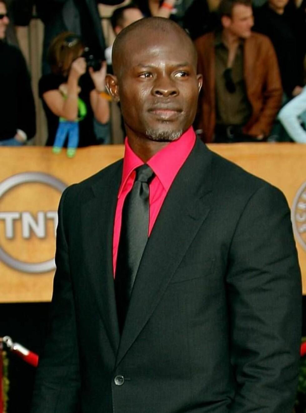"""FILMSTJERNE: Djimon Hounsou spiller mot Leonardo DiCaprio i kinoaktuelle """"Blood Diamond"""". Foto: All Over Press"""