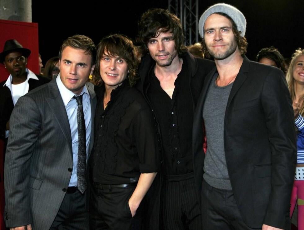 SAMMEN: Take That har gjort stor suksess med gjenforeningsturneen sin - men uten Robbie Williams. Han ville heller ville satse videre på solokarrieren. Foto: All Over Press