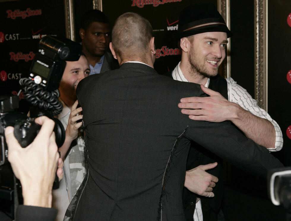 ANSTRENGT? Det ser ikke akkurat ut til at Justin og Kevin noengang blir bestiser.. Foto: AP