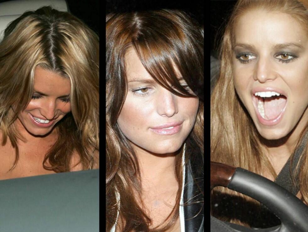 SVEISEN: Blond, brun eller kobber? Jessica Simpson kan kunsten å farge håret. Foto: All Over Press