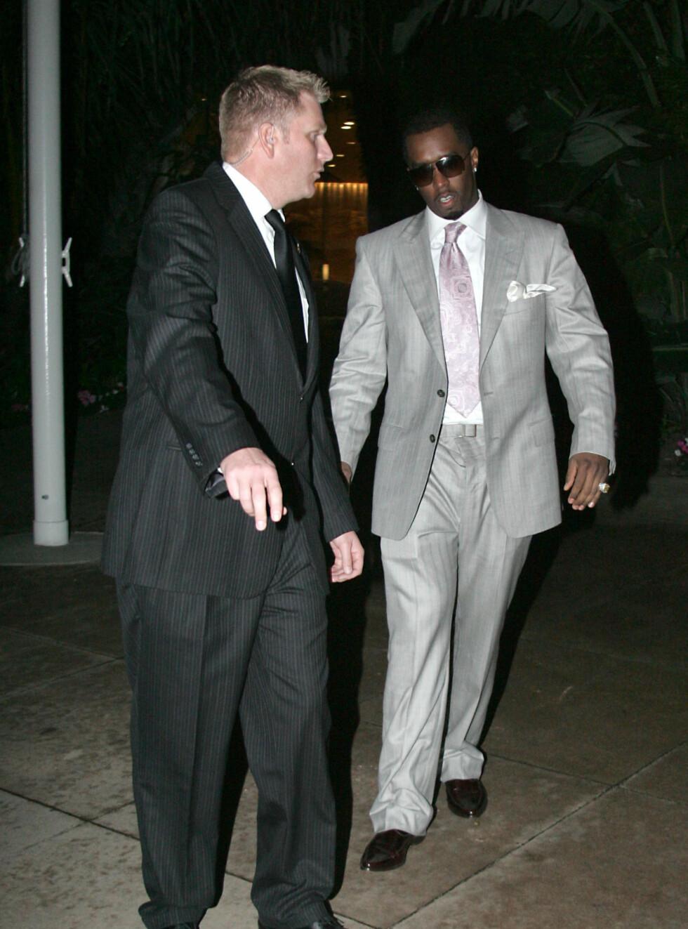 KLAR: Diddy ankommer nachspielet etter Grammy-utdelingen. Foto: Stella Pictures