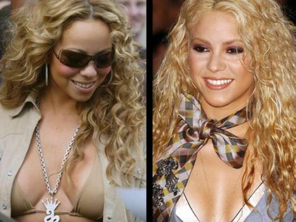 FULL PUPP: Sangfugl Mariah Carey elsker å provosere i frekke plagg. Men blir hun like sexy som kollega Shakira.  Foto: Stella Pictures