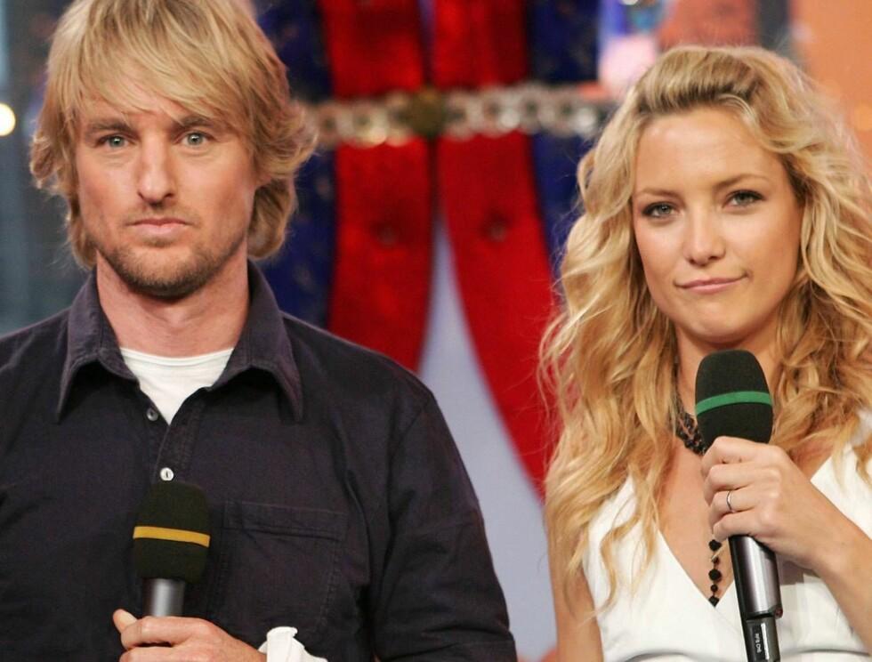 """MYE SAMMEN PÅ JOBB: Her er Kate og Owen på jobb for musikk-kanalen MTV. De har også spilt sammen i filmen """"You, me and Dupree"""" Foto: All Over Press"""