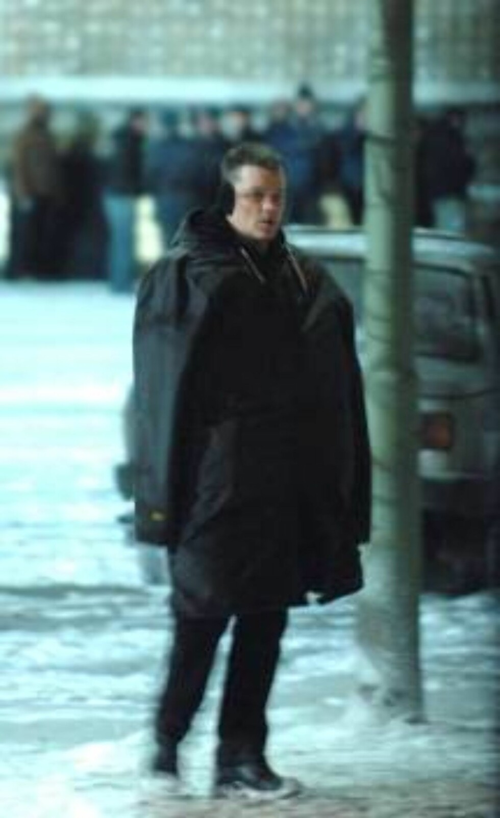 BERLIN 2007-01-29  ***NORWAY ONLY***  Matt Damon during shooting for his new movie THE BOURNE ULTIMATUM in Berlin. They are shooting on Berliner Alexanderplatz. This is an very famous place in Germany's main town. There they made russian dekoration , beca Foto: STELLA PICTURES