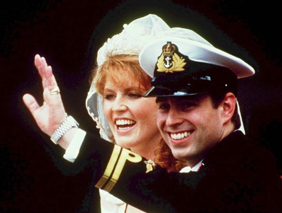 KONGELIG: Sarah tok britene med storm da hun giftet seg med prins Andrew i 1986. Hun er neppe like populær etter de siste avsløringene. Foto: AP