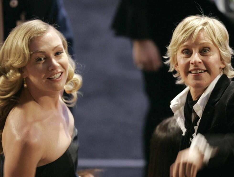 PAR: Portia de Rossi og Ellen DeGeneres har lyst på baby, men krangler om hvem som skal bære det frem. Foto: AP/Scanpix