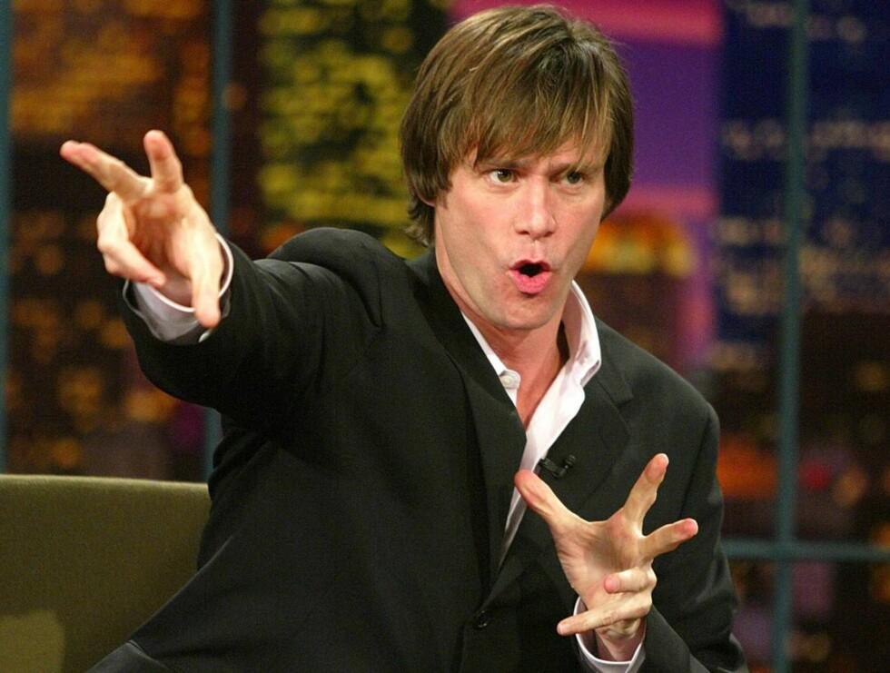 """GAL: Jim Carrey er kjent for sine elleville påfunn og snodige utsagn. Under innspillingen av """"Nummer 23"""", dro han ned smekken og lot det stå til ... Foto: All Over Press"""